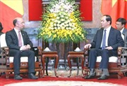 Chủ tịch nước tiếp Thủ hiến chính phủ Wallonie - Bruxelles