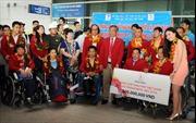 Hạnh phúc ngày về của đoàn thể thao người khuyết tật