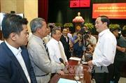 Chủ tịch nước gặp gỡ doanh nghiệp, doanh nhân TPHCM