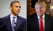 """Ông Trump khuyên Tổng thống Obama """"cẩn thận"""" với phụ nữ"""