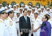 Chủ tịch nước gặp mặt cựu chiến binh Đường Hồ Chí Minh trên biển