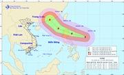 Siêu bão Haima giật trên cấp 17 đang vào Biển Đông