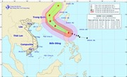 Bão Haima gây gió giật cấp 16 ở Bắc Biển Đông