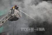 Dập tắt hoàn toàn đám cháy trên phố Trần Thái Tông