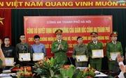 Khen thưởng các cá nhân phá nhanh vụ án giết người ở Hà Nội