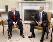 Nhìn cử chỉ, đoán tâm trạng Tổng thống Obama và ông Trump