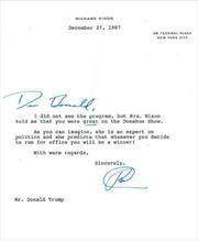 Cố Tổng thống Nixon dự báo ông Trump chiến thắng