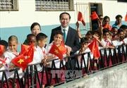 Chủ tịch nước thăm trường Tiểu học Nguyễn Văn Trỗi ở La Habana