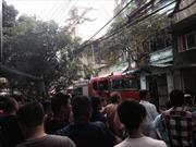 Dập tắt vụ cháy lớn tại đường Trần Khát Chân, Hà Nội