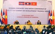 Ba Thủ tướng Campuchia, Lào, Việt Nam họp báo chung