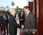 Tổng Bí thư Nguyễn Phú Trọng hội kiến Thủ tướng Lào