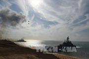 Tàu chiến Nga tới Crimea đối phó Ukraine tập trận tên lửa