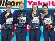 Các nữ kình ngư Mỹ thiết lập kỷ lục thế giới mới