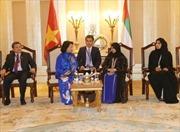 Chủ tịch Quốc hội Nguyễn Thị Kim Ngân gặp Chủ tịch Hội đồng Liên bang UAE