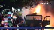 Hình ảnh cây xăng nổ cháy dữ dội tại quận Gò Vấp