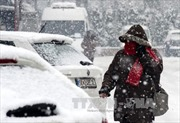 Tuyết rơi dày đặc tại Tunisia, cả nghìn xe mắc kẹt trên đường