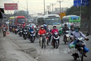 Giao thông tại TP Hồ Chí Minh đã đông đúc trở lại sau Tết