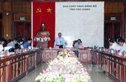 Chủ nhiệm Ủy ban Kiểm tra Trung ương Trần Quốc Vượng làm việc tại Hậu Giang