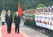 Chủ tịch nước Trần Đại Quang đón, hội kiến với Nhà vua Nhật Bản Akihito