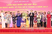 Chủ tịch Quốc hội gặp mặt các nữ Đại sứ, Trưởng đại diện tổ chức quốc tế