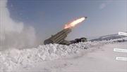 Pháo binh, tên lửa Nga khạc lửa giữa băng tuyết Orenburg