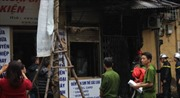Cháy nhà con trai nhạc sĩ Văn Cao trên phố Lê Duẩn, Hà Nội