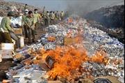 Đã tiêu hủy hơn 25.000 bao thuốc lá nhập lậu