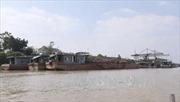 Bắt giữ tàu hút cát trái phép trên sông Lạch Trường, Thanh Hóa