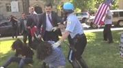 Vệ sĩ Tổng thống Erdogan bị tố đánh người biểu tình tại Mỹ