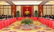 Tổng Bí thư gặp mặt các đại biểu chương trình Vinh quang Việt Nam