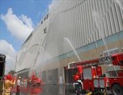 Diễn tập cứu nạn cháy nổ tại trung tâm thương mại Crescent Mall