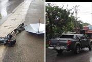 Khẩn trương làm rõ vụ xe ô tô đâm hỏng máy quay phim của phóng viên VTV