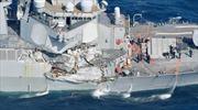 Tìm thấy thi thể thủy thủ mất tích trong tàu khu trục Mỹ bị tàu hàng đâm móp