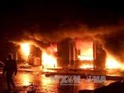 Cháy chợ đêm ở Phú Quốc, thiệt hại hàng tỷ đồng