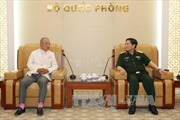 Đại tướng Ngô Xuân Lịch tiếp Chủ tịch danh dự Quỹ hòa bình Sasakawa Nhật Bản