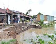 Hậu Giang hỗ trợ người dân khẩn trương di dời khỏi khu vực sạt lở