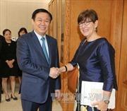 Phó Thủ tướng Vương Đình Huệ tiếp Đại sứ Bỉ, Slovakia và EU