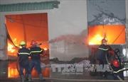 Cháy lớn tại Cụm công nghiệp Đồng Lạng, Phú Thọ