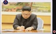 Truyền hình Triều Tiên lần đầu phát hình ảnh ông Kim Jong-un tận tay ký lệnh thử bom H