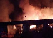 Cháy lớn tại Công ty may mặc Thành Công