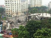 Sập công trình trường mầm non tại Mỹ Đình, Hà Nội