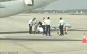 Nữ tiếp viên hàng không rơi khỏi máy bay khi chuẩn bị cất cánh