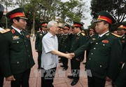 Tổng Bí thư Nguyễn Phú Trọng thăm, làm việc với Bộ Tư lệnh Quân khu 4