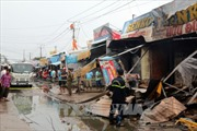 Cháy chợ tại Kiên Giang khiến 3 người chết, nhiều nhà bị thiêu rụi