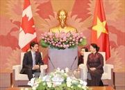 Chủ tịch Quốc hội Nguyễn Thị Kim Ngân tiếp Thủ tướng Canada