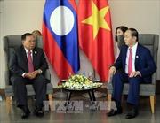 APEC 2017: Chủ tịch nước Trần Đại Quang gặp Tổng Bí thư, Chủ tịch nước Lào