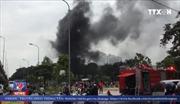 Cháy lớn quán karaoke trên đường Linh Đàm – Nguyễn Hữu Thọ
