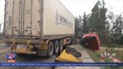 Tai nạn liên hoàn, hàng loạt xe container đâm vào nhau trên tuyến tránh thành phố Vinh
