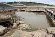 Hồ đập thủy lợi ở Quảng Trị bị xói lở nghiêm trọng