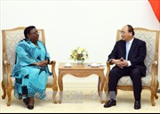 Thủ tướng Nguyễn Xuân Phúc tiếp Bộ trưởng Ngoại giao Liberia